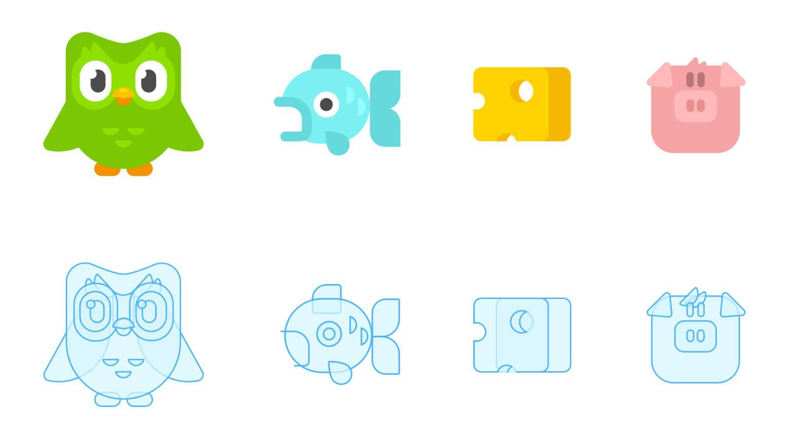 Duolingo icons