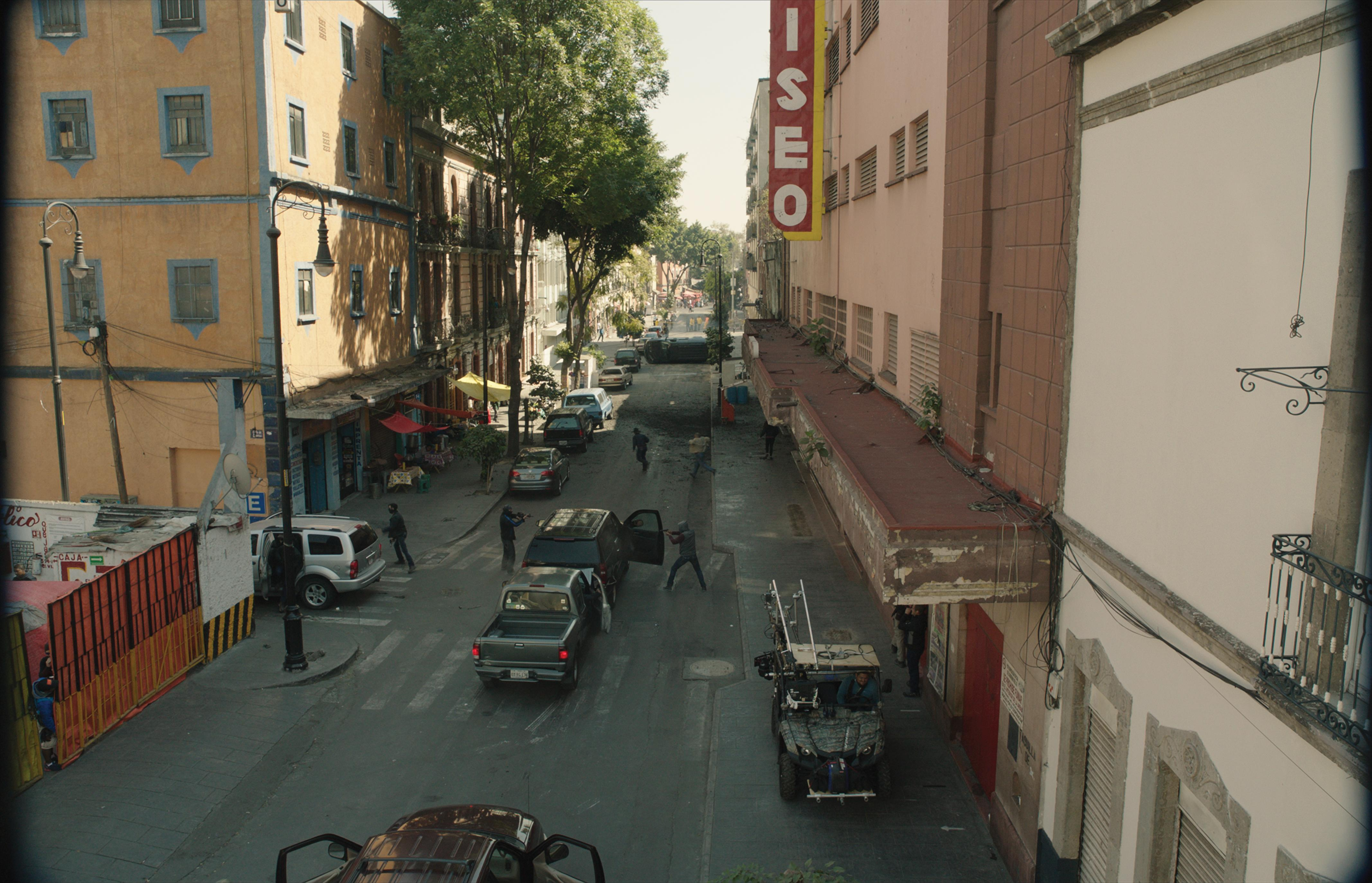 A clean street scene shot from Sicario: Day of the Soldado