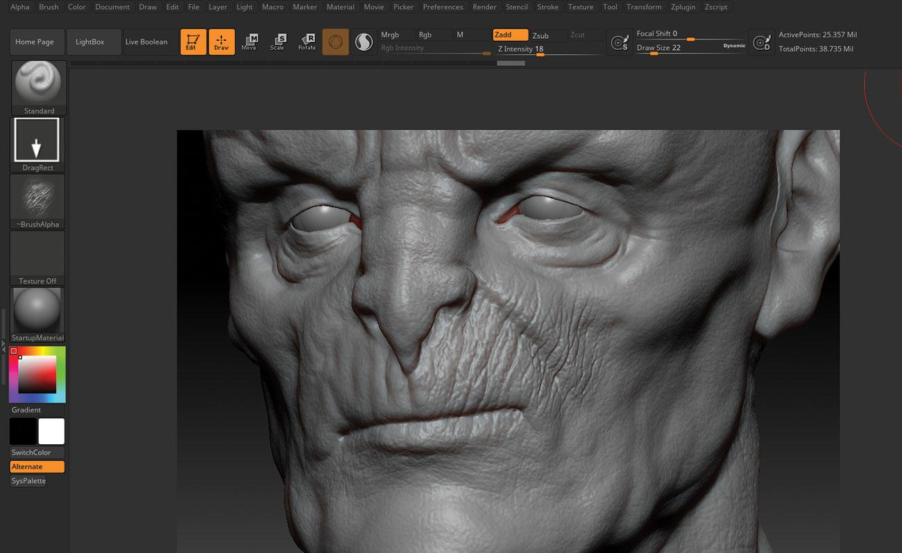 15 tips to master ZBrush: Use Morph Targets to help blend off detail