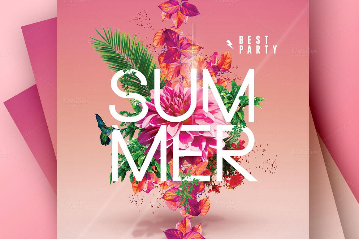 Flyer templates: Summer party template