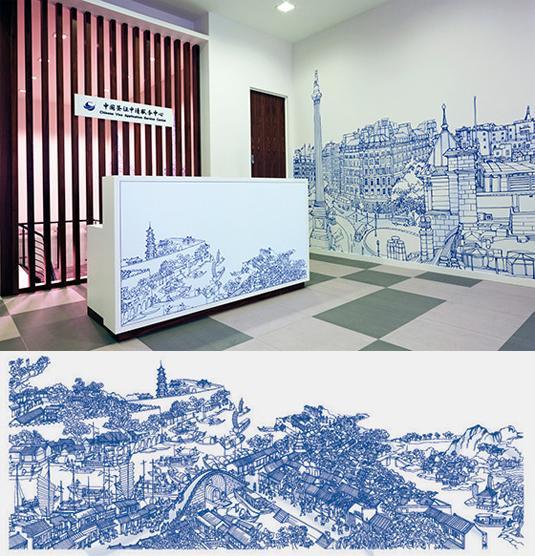 design office murals