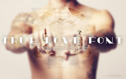 Tattoo fonts: True Love