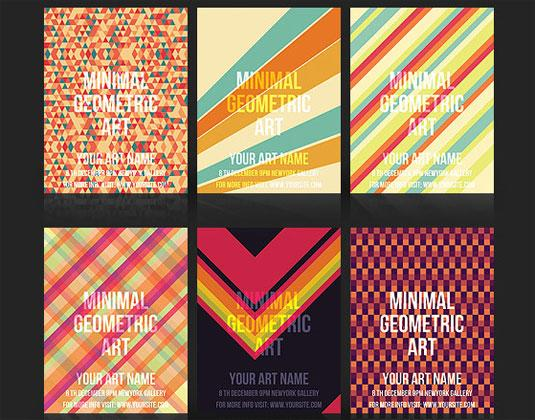 flyer templates: geometric