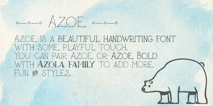 Pretty fonts: Azoe