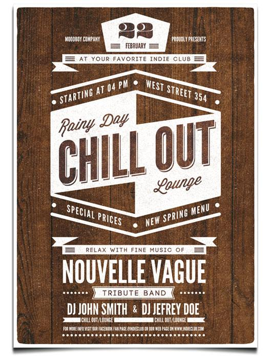 flyer templates: chill out