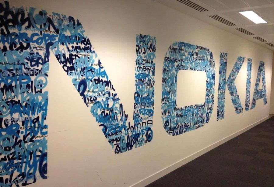 Nokia office mural
