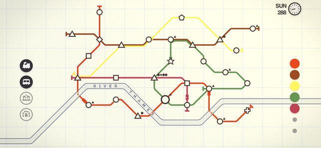 Screengrab of Mini Metro