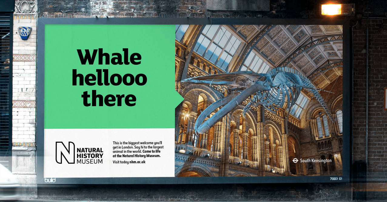 SomeOne knows the importance of pushing boundaries – such as in this work for the Natural History Museum