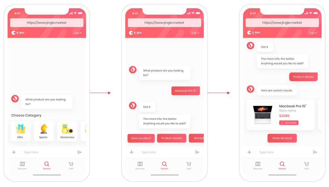 E-Bot app design