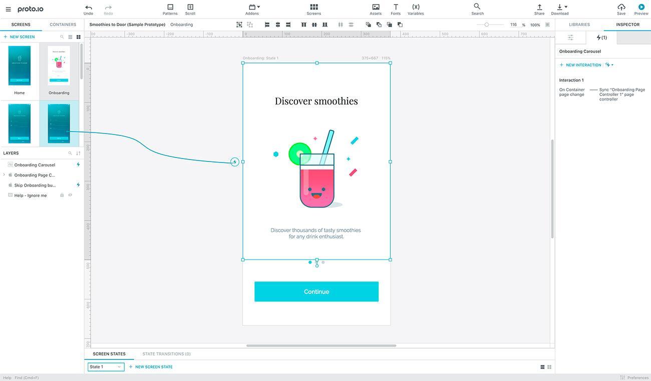 20 best UI design tools: Proto.io