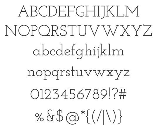 Free web fonts Josefin Slab