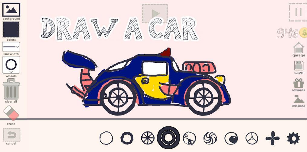 Screengrab from Draw Your Car