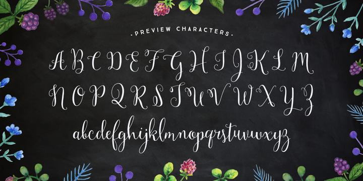 Pretty fonts: Mulberry