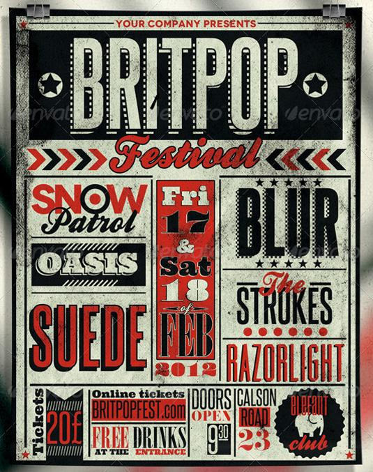 flyer templates: typography