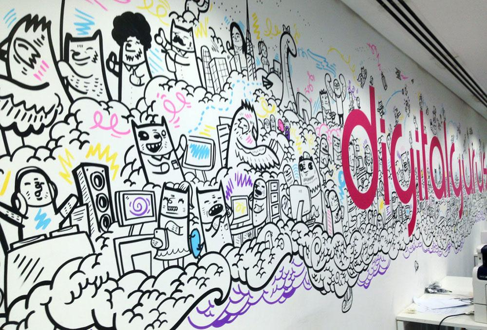 Digital gurus office mural