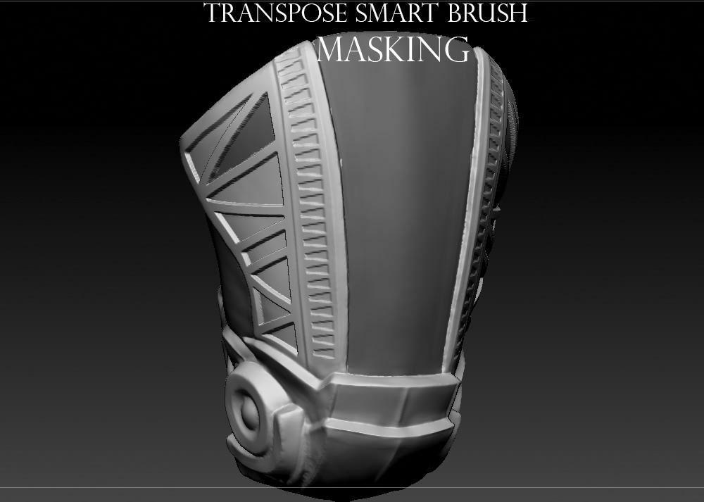 15 tips to master ZBrush: Transpose smart masking