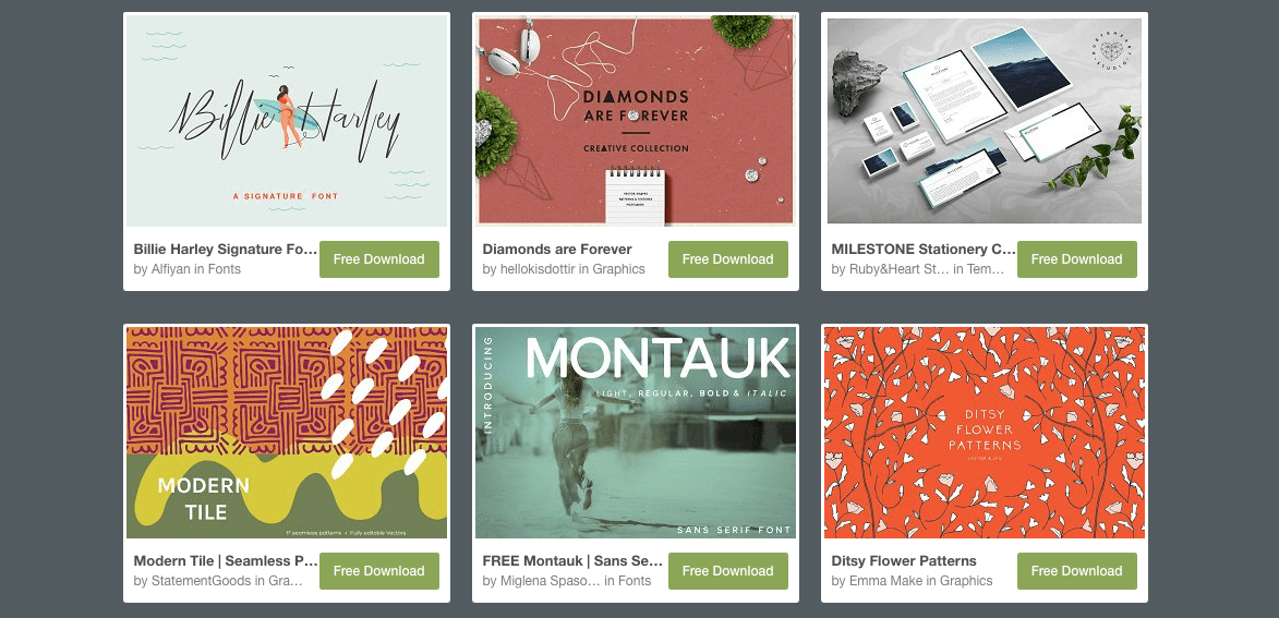 Get a free font each week on Creative Market