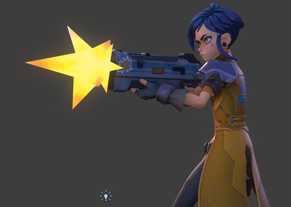 animated character with a gun