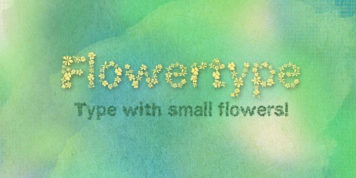 Pretty fonts: Flowertype