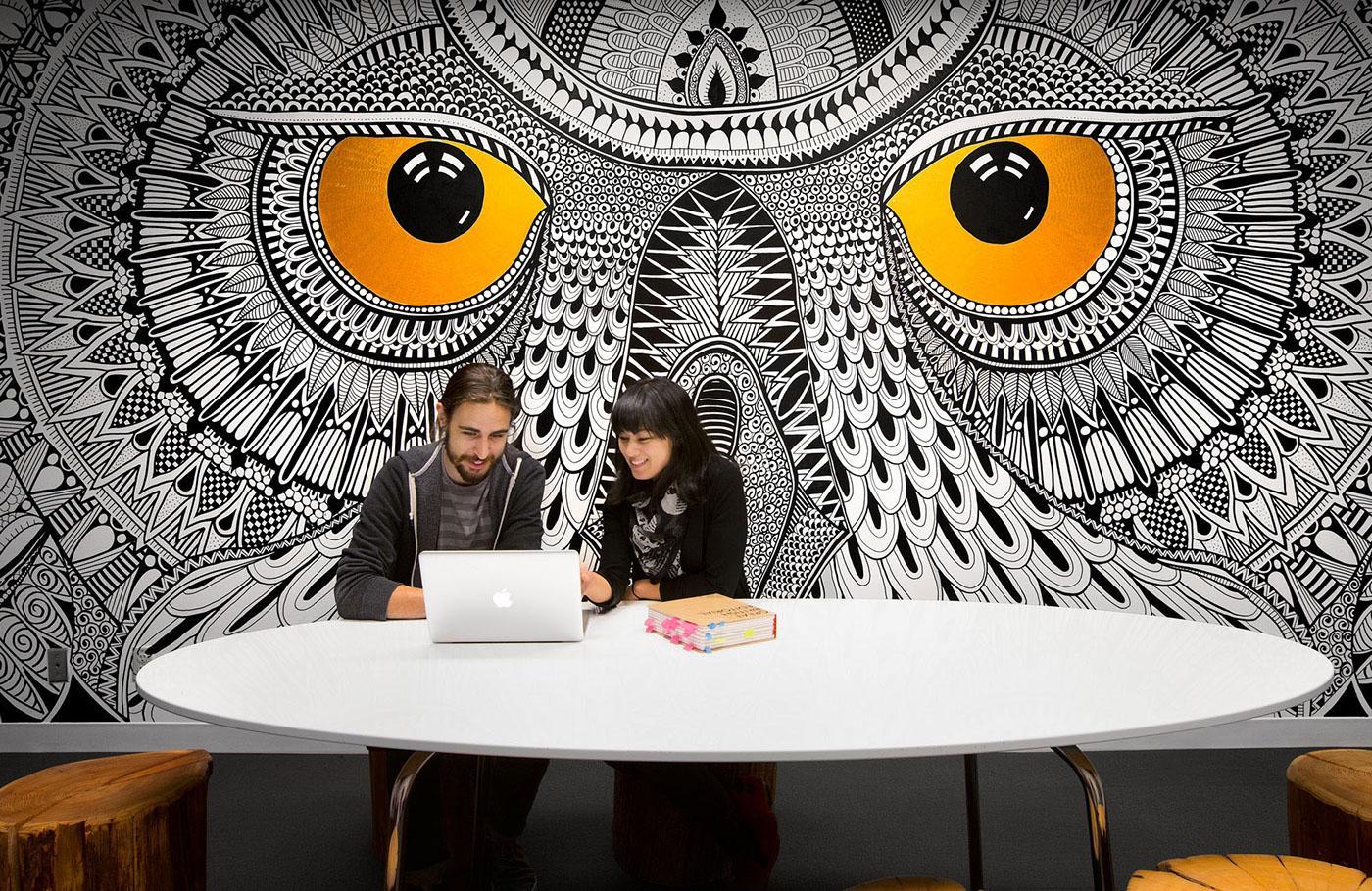 Hootsuite's amazing boardroom mural