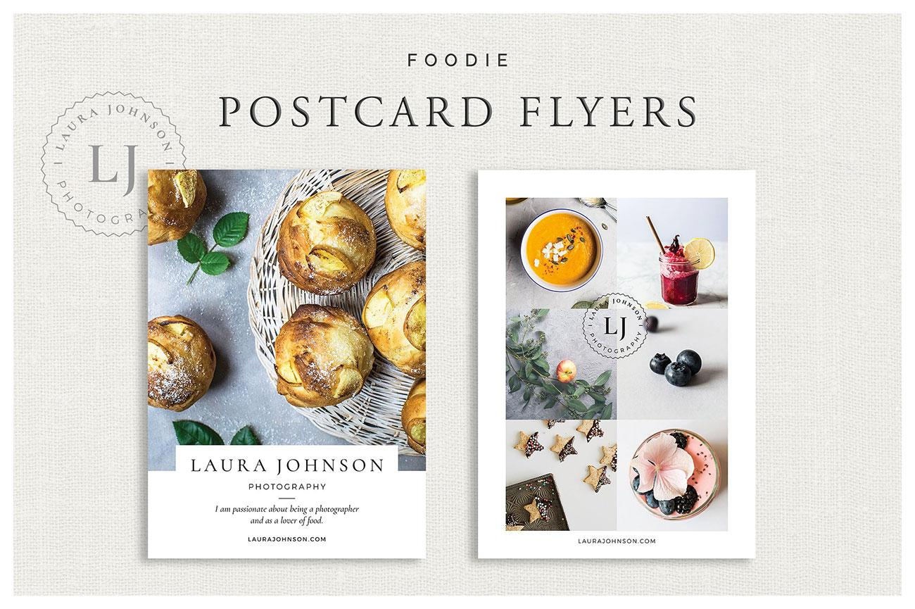 Flyer templates: Foodie Postcard Flyers