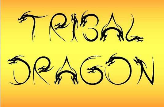 Tattoo fonts: Tribal Dragon
