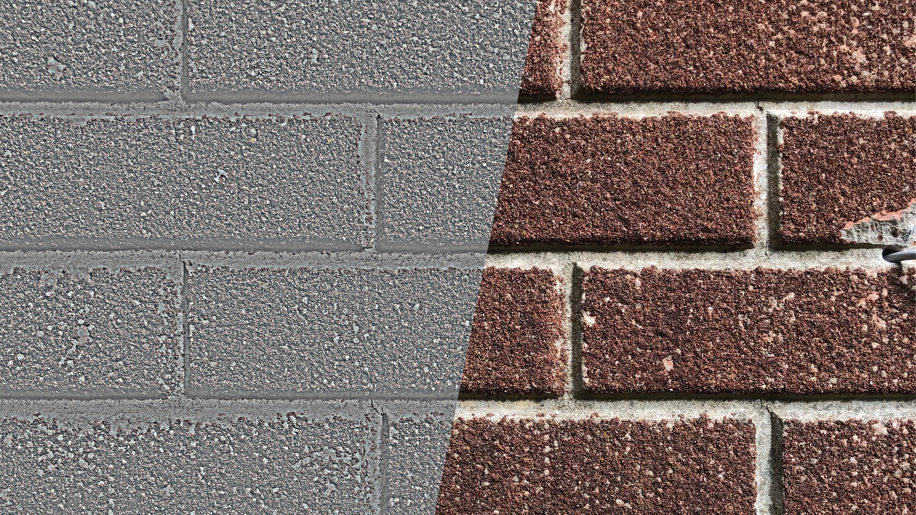 A brick wall texture with a bump and displacement map