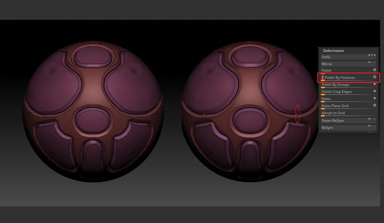 15 tips to master ZBrush: Use Polish Features to clean up panel loops