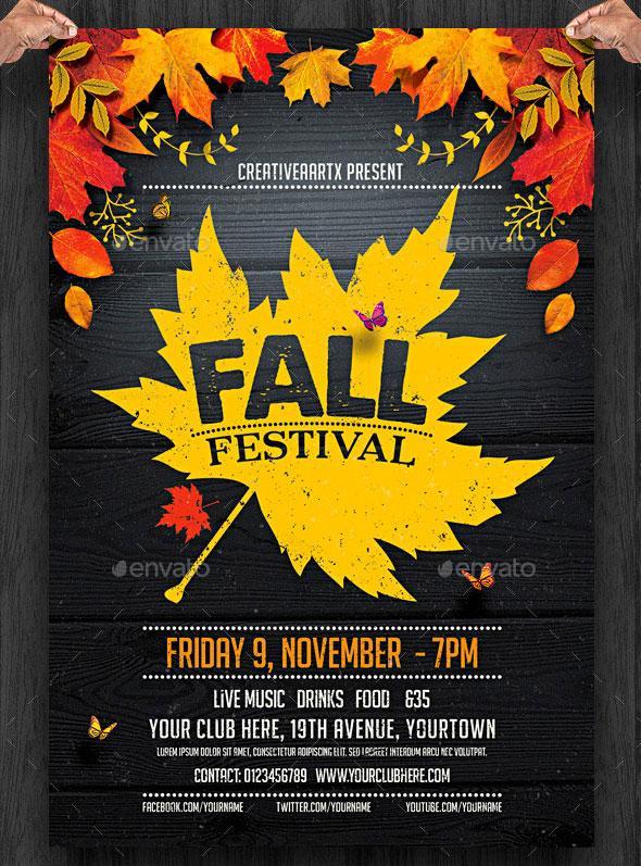 Flyer templates: Fall festival template