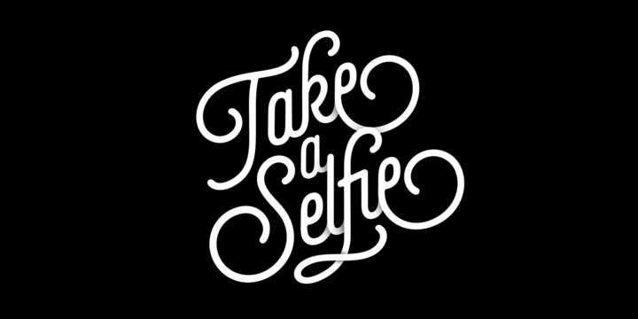 Pretty fonts: Selfie