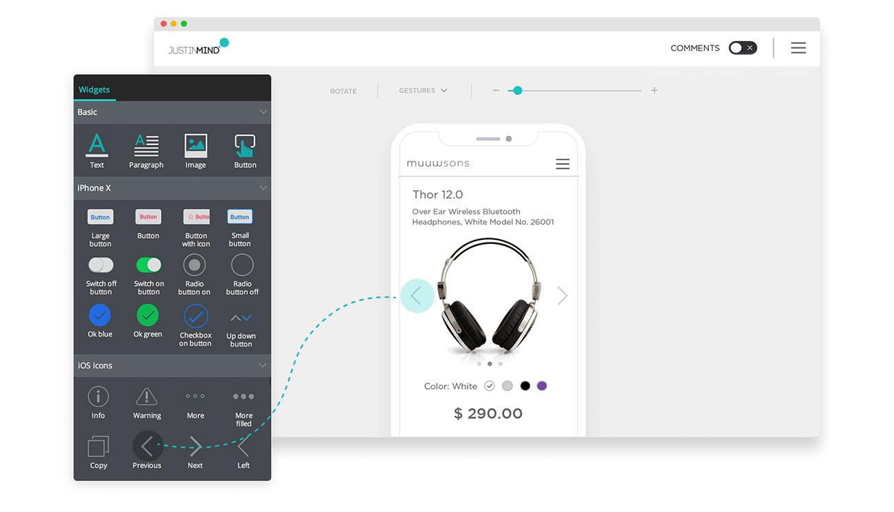 20 best UI design tools: Justinmind