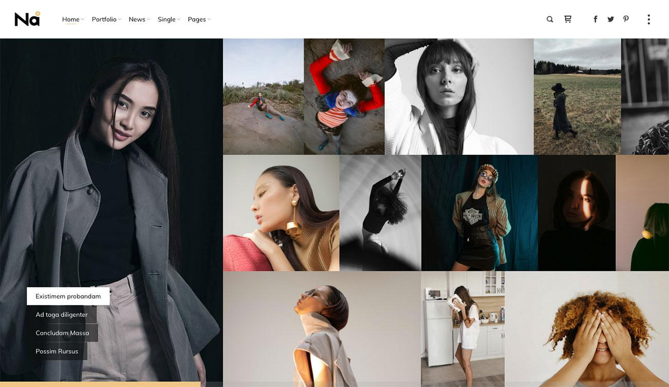TheNa website template