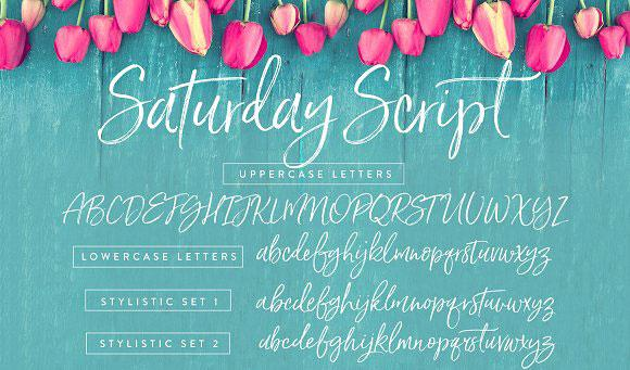 Pretty fonts: Saturday Script