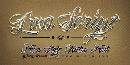 Tattoo fonts: Lina Script