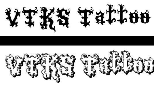 Tattoo fonts: Viks