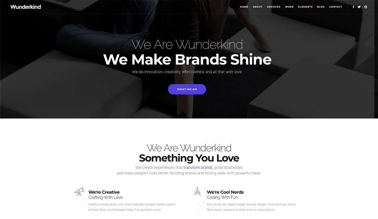 Wunderkind: website template