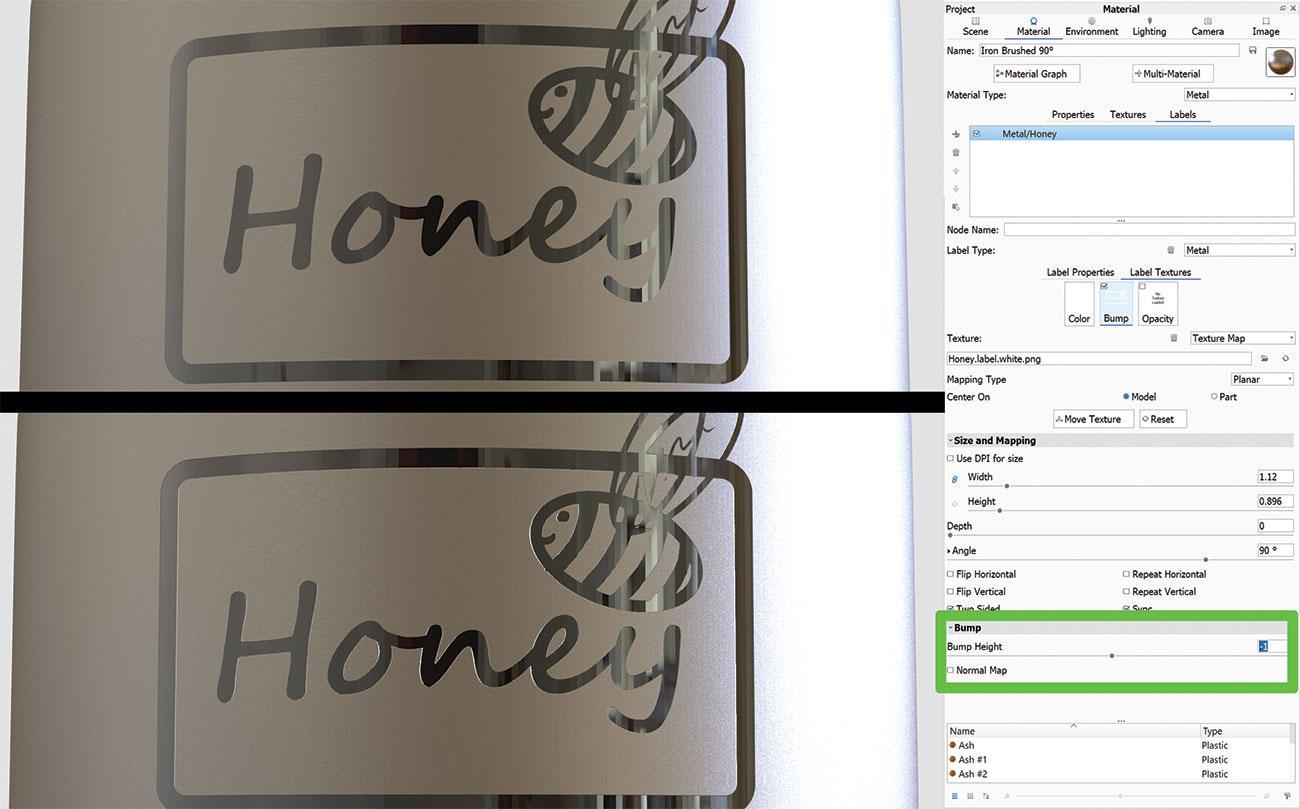 KeyShot rendering tips: Emboss logo