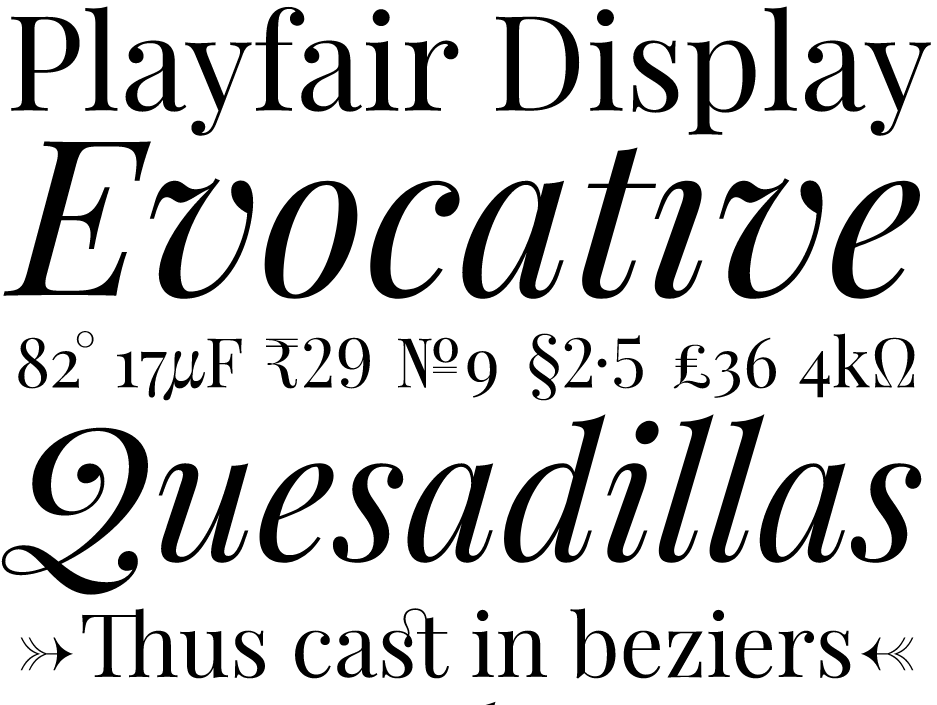 Best free fonts: Playfair display
