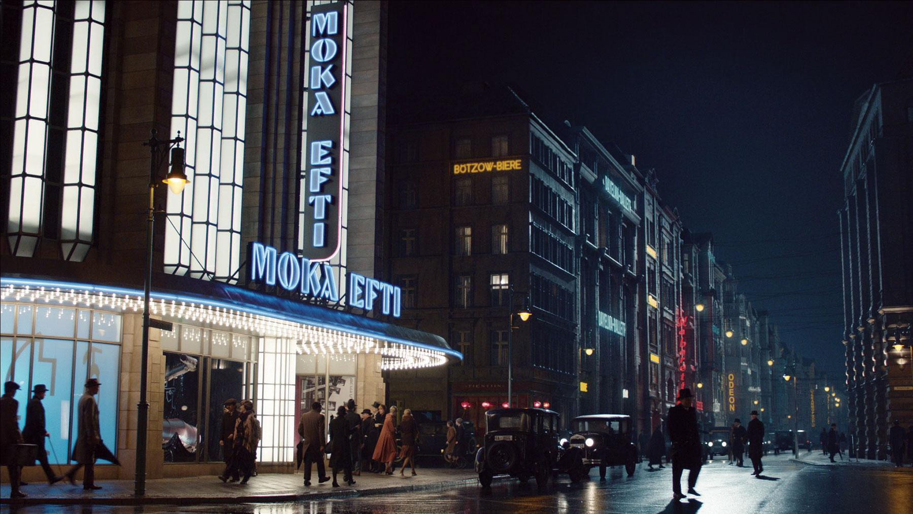 A still from German crime-drama series Babylon Berlin, for which RISE provided VFX
