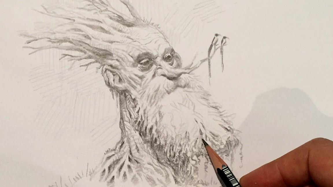 image drawn with a pencil