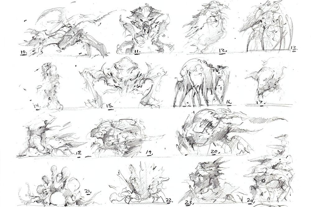 thumbnails of creatures