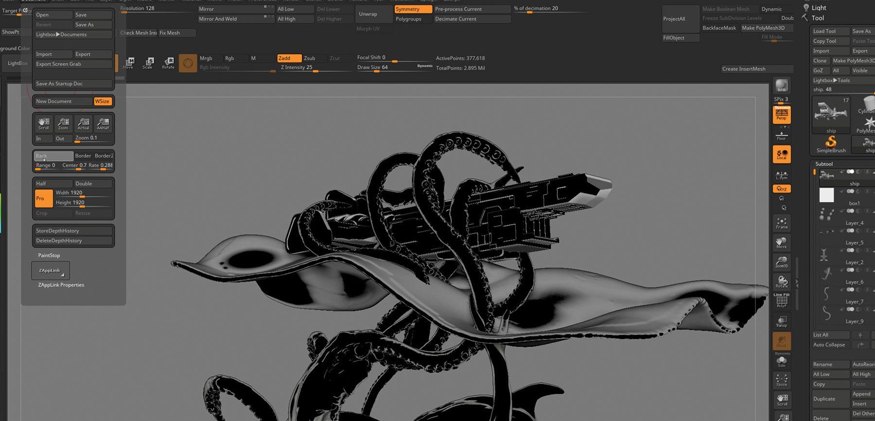 VR design in ZBrush