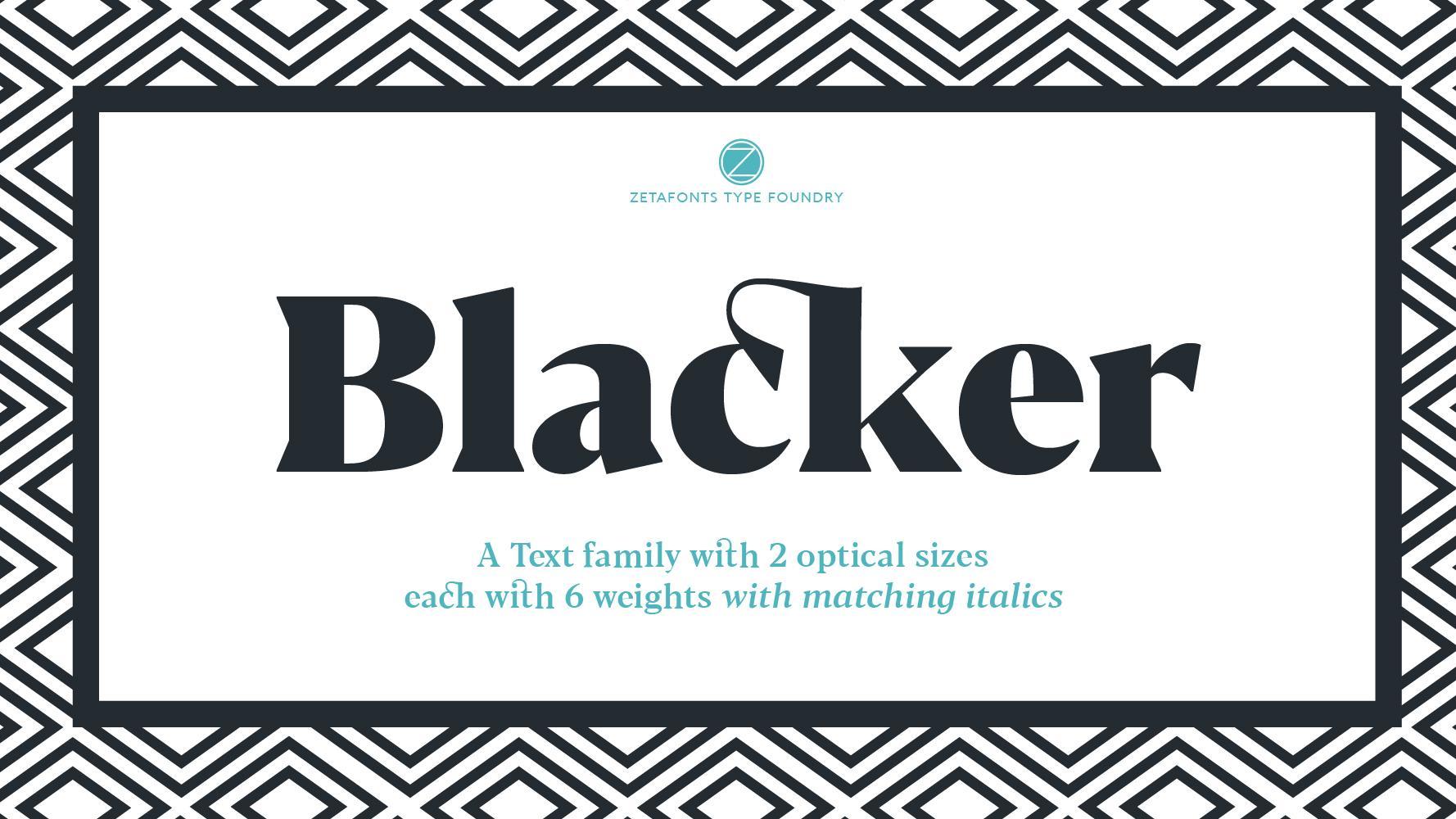 Blacker free font
