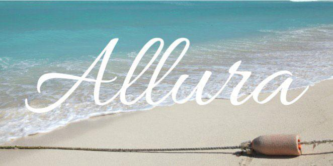 Calligraphy fonts: Allura