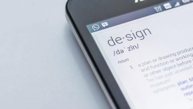 design in dictionary on phone
