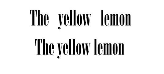 Font kerning tips: remember spacing between words
