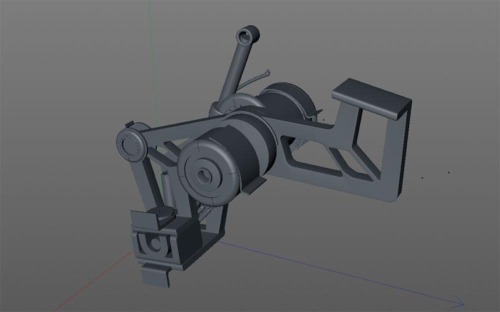suspension system for car model in 3D