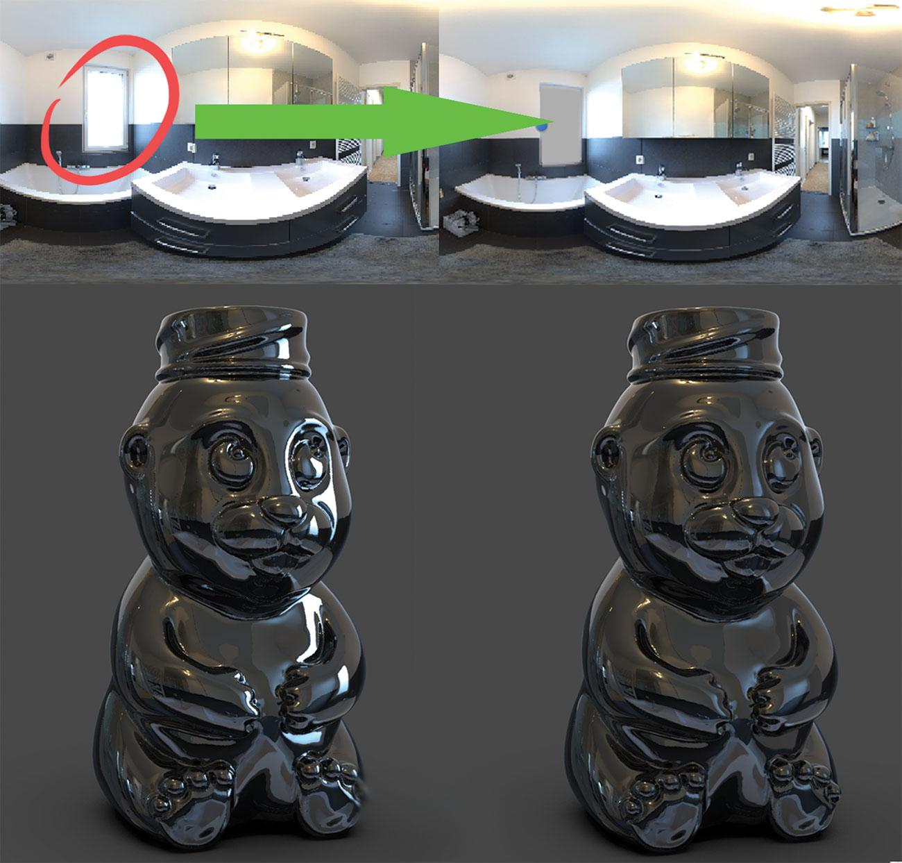 KeyShot rendering tips: Block HDRI hotspots