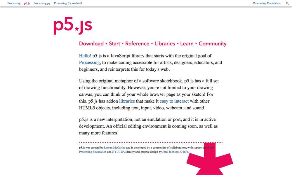 p5.js download screen