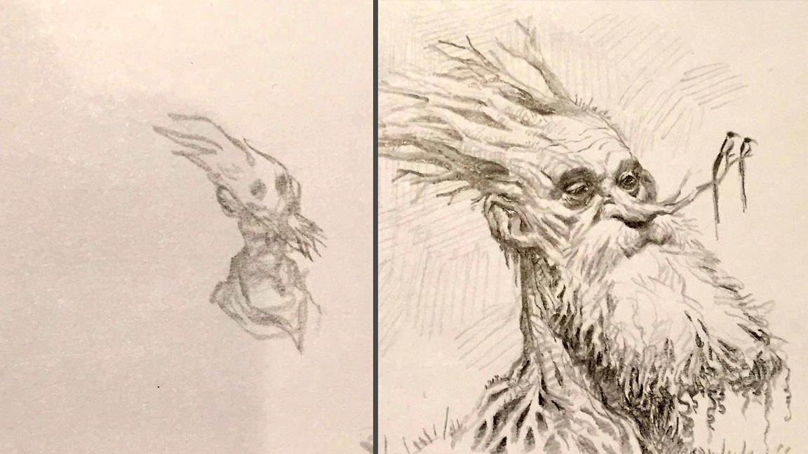 thumbnail next to drawing